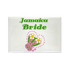Jamaica Bride Rectangle Magnet