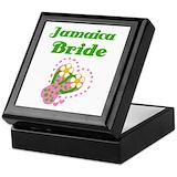 Jamaican Square Keepsake Boxes