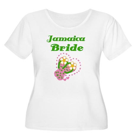 Jamaica Bride Women's Plus Size Scoop Neck T-Shirt