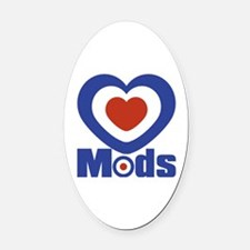 Mods Oval Car Magnet