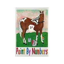 """""""PAINT BY NUMBERS"""" Rectangle Magnet"""