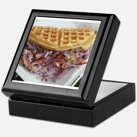 pulled pork waffle with coleslaw Keepsake Box