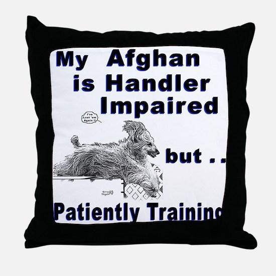 Afghan Agility Throw Pillow