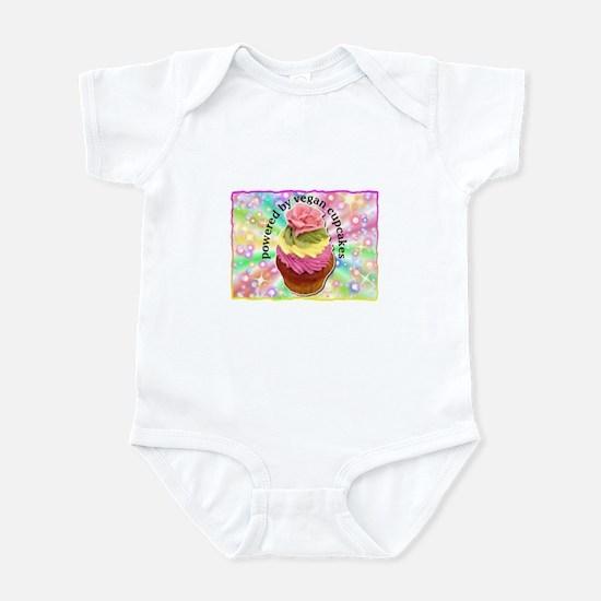 Powered by Vegan Cupcakes Infant Bodysuit