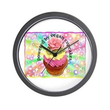 Powered by Vegan Cupcakes Wall Clock