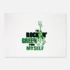 RockinGreenForMyself 5'x7'Area Rug