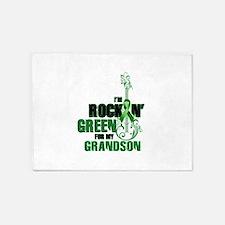 RockinGreenForGrandson 5'x7'Area Rug