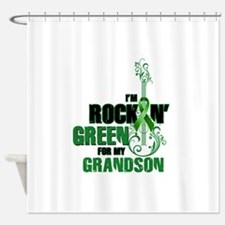 RockinGreenForGrandson Shower Curtain