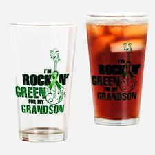 RockinGreenForGrandson Drinking Glass