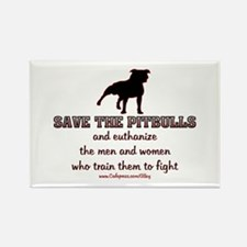 Save The Pit bulls Rectangle Magnet (100 pack)