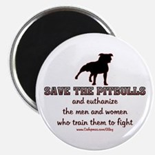 """Save The Pit bulls 2.25"""" Magnet (100 pack)"""