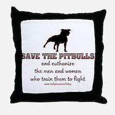 Save The Pit bulls Throw Pillow