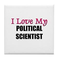 I Love My POLITICAL RESEARCH ASSISTANT Tile Coaste