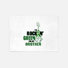 RockinGreenForBrother 5'x7'Area Rug