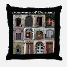 Doorways of Germany Throw Pillow