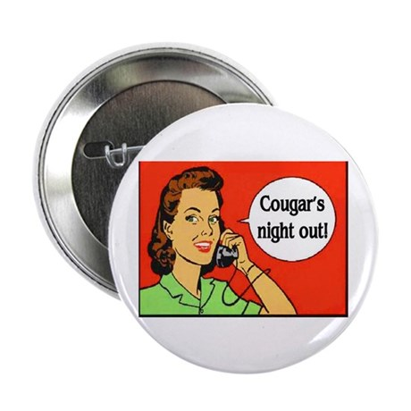"""COUGAR'S NIGHT OUT 2.25"""" Button (10 pack)"""