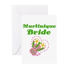 Martinique Bride Greeting Card