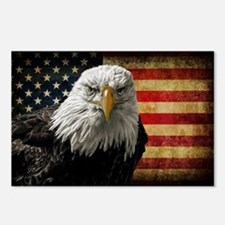 Bald Eagle and Flag Postcards (Package of 8)