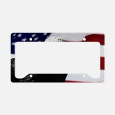 Bald Eagle and Flag License Plate Holder
