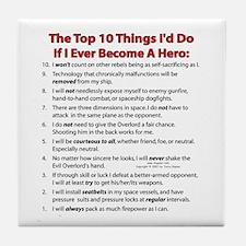 Hero Top 10! Tile Coaster