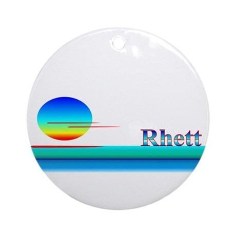 Rhett Ornament (Round)