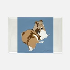 The Artsy Dog Rectangle Magnet (10 pack)