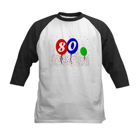 80th Birthday Kids Baseball Jersey