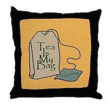 """""""Tea Is My Bag"""" - Throw Pillow"""