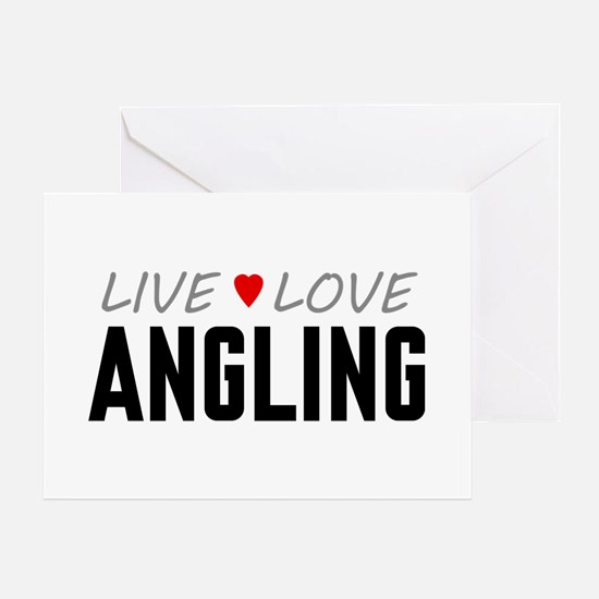 Live Love Angling Greeting Card