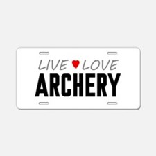 Live Love Archery Aluminum License Plate