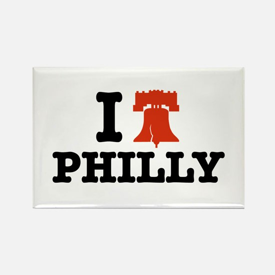 I Love Philly Rectangle Magnet