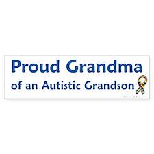 Proud Grandma Of Autistic Grandson Bumper Sticker