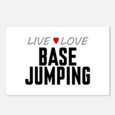 Live Love Base Jumping Postcards (Package of 8)