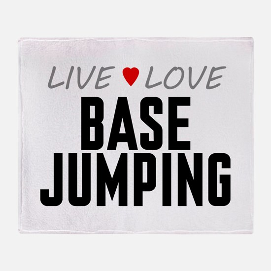 Live Love Base Jumping Stadium Blanket