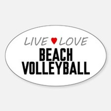 Live Love Beach Volleyball Oval Decal