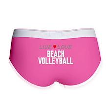 Live Love Beach Volleyball Women's Boy Brief