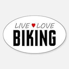 Live Love Biking Oval Sticker (10 pack)
