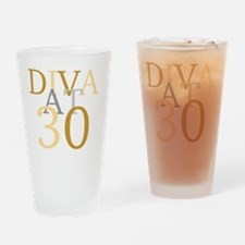 Diva At 30 Drinking Glass