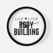 Live Love Body Building Wall Clock