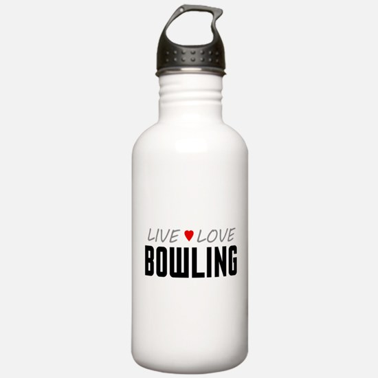 Live Love Bowling Water Bottle