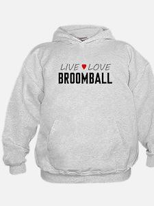Live Love Broomball Kid's Hoodie