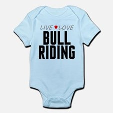 Live Love Bull Riding Infant Bodysuit