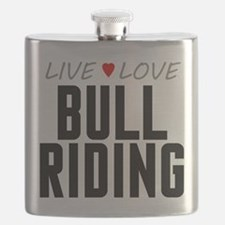 Live Love Bull Riding Flask