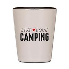 Live Love Camping Shot Glass