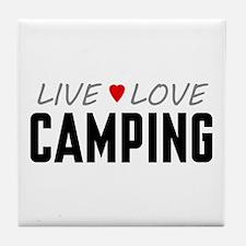 Live Love Camping Tile Coaster