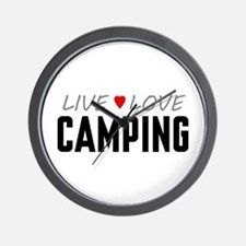 Live Love Camping Wall Clock