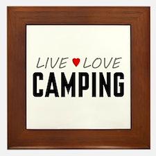 Live Love Camping Framed Tile