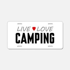 Live Love Camping Aluminum License Plate