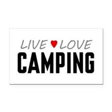 Live Love Camping Rectangle Car Magnet