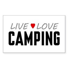 Live Love Camping Rectangle Decal